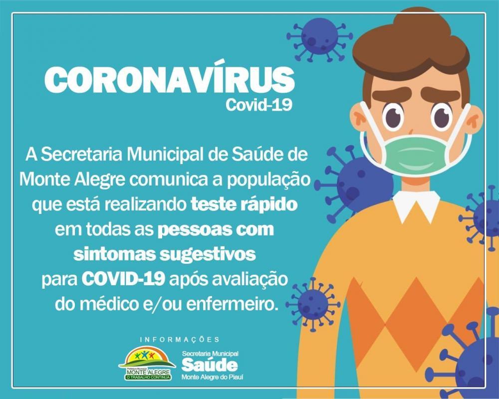 Monte Alegre| Saúde realiza testes rápidos a paciente com sintomas de Covid-19