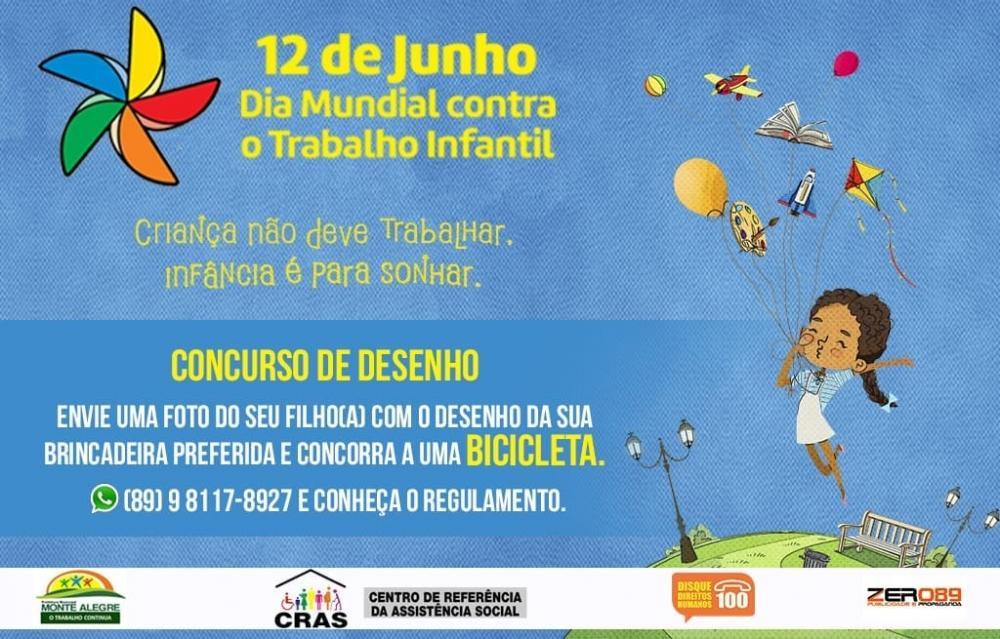CRAS de Monte Alegre realizará concurso de desenho infantil, participe!
