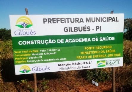Prefeitura de Gilbués irá construir Academia de Saúde no Bairro Santo Antônio