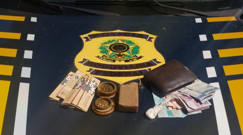 Bom Jesus   PRF prende homem por Tráfico de Drogas na BR 135