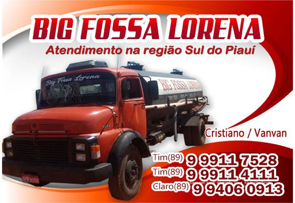 Limpeza ou desentupimento de fossa chame BIG FOSSA LORENA no Sul do Piauí
