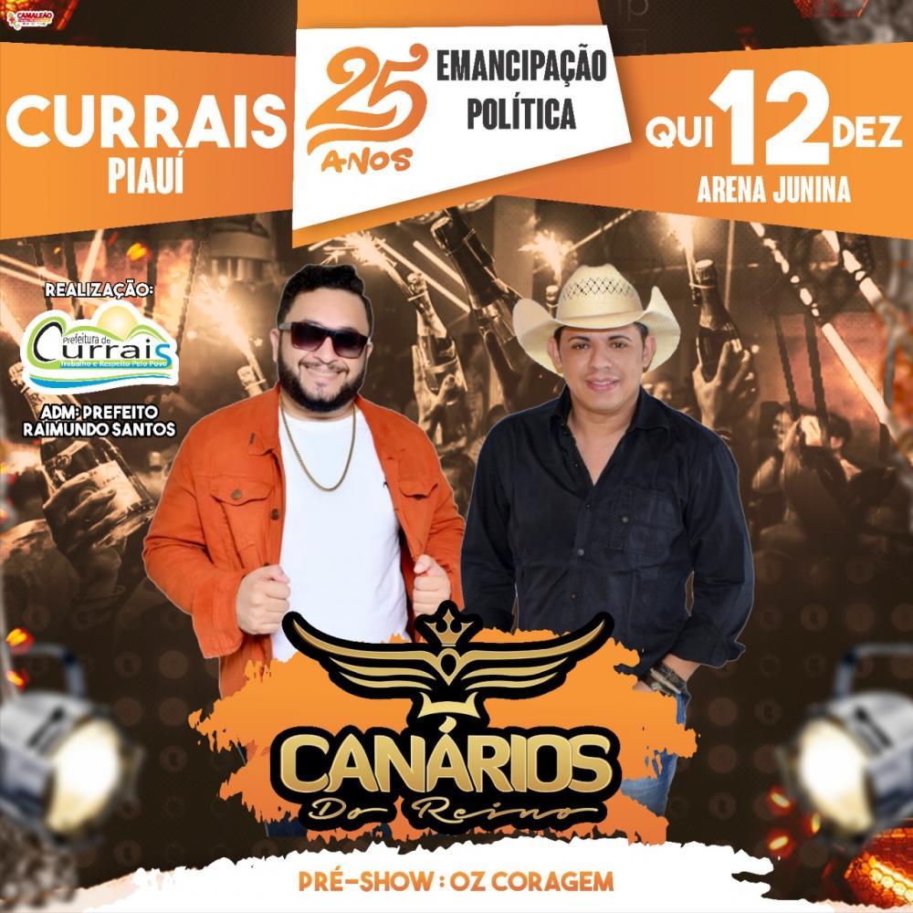 Cidade de Currais-PI, celebra seu aniversário de 25 anos de Emancipação Politica