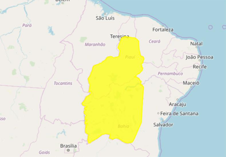 Monte Alegre e Gilbués estão com alertas de chuvas para as próximas horas