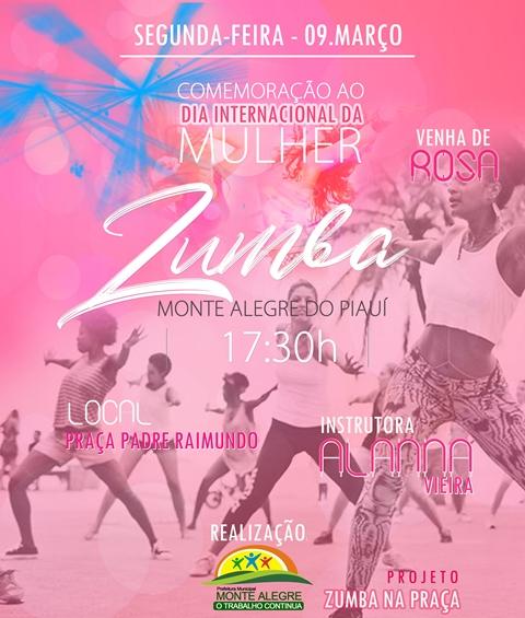 Monte Alegre: Projeto zumba vai homenagear as mulheres nesta segunda (9) de março
